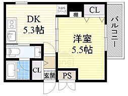 アーキグレイス新大阪[6階]の間取り