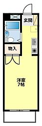 愛知県豊田市青木町2丁目の賃貸アパートの間取り