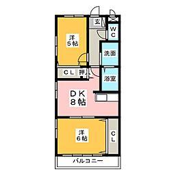 ハイム野村[1階]の間取り