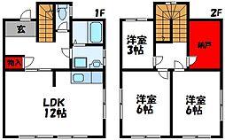 [一戸建] 福岡県直方市大字頓野 の賃貸【福岡県 / 直方市】の間取り