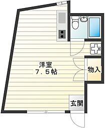 平山ビル[203号室]の間取り