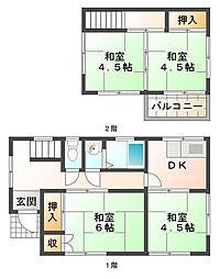 [一戸建] 兵庫県神戸市垂水区泉が丘3丁目 の賃貸【兵庫県 / 神戸市垂水区】の間取り