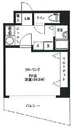東京メトロ銀座線 日本橋駅 徒歩10分の賃貸マンション 3階1Kの間取り