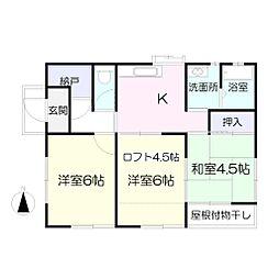 [一戸建] 神奈川県厚木市三田南2丁目 の賃貸【/】の間取り