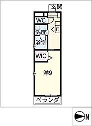 仮)大高Mプロジェクト B棟[2階]の間取り