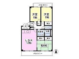 第2センチュリー渋谷 3階3LDKの間取り
