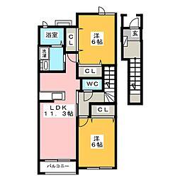 センチュリーマエダII[2階]の間取り