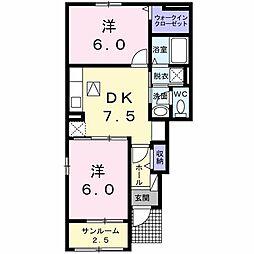 フォンターナC[1階]の間取り