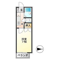 LIBERTY KUNIE Ⅱ[1階]の間取り