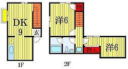 [テラスハウス] 千葉県習志野市津田沼3丁目 の賃貸【/】の間取り