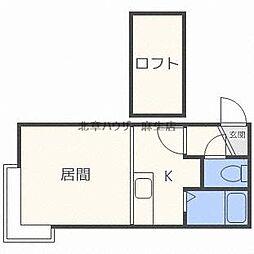 ソニア麻生B[3階]の間取り