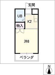 カスティーヌ千代田[5階]の間取り
