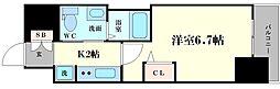大阪府大阪市西区本田1丁目の賃貸マンションの間取り