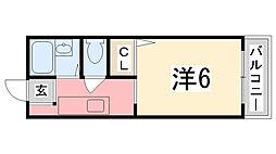 リヴェール田寺[103号室]の間取り