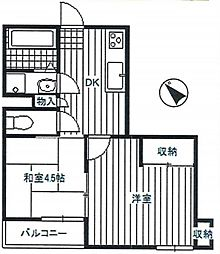 神奈川県相模原市南区古淵6の賃貸マンションの間取り