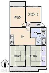 マンション鈴木(A、B、C)[2階]の間取り
