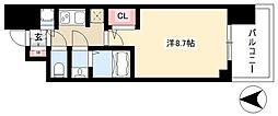 S-RESIDENCE本郷 5階1Kの間取り
