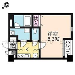 クオリカ西京極[302号室]の間取り
