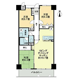 「ライオンズマンション桃山南口」[4階]の間取り