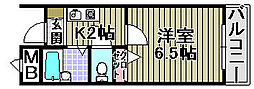 メゾンマスオカ[305号室]の間取り