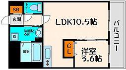 都島レジデンス[4階]の間取り