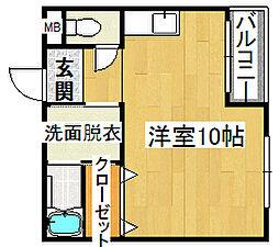 ワキタハイツ2号館[3階]の間取り