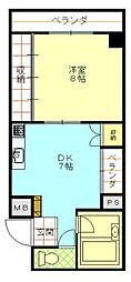 ニューアムザマンション[1102号室号室]の間取り