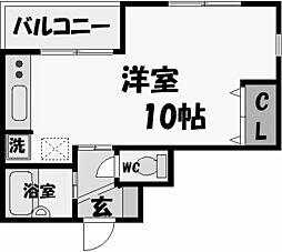 レザムルーズ西宮[2階]の間取り