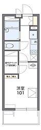 JR片町線(学研都市線) 四条畷駅 徒歩25分の賃貸マンション 2階1Kの間取り