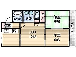 中津ハイツ'78[4階]の間取り