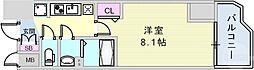 JR東海道・山陽本線 神戸駅 徒歩6分の賃貸マンション 13階1Kの間取り
