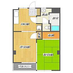 First Tanaka Mansion[402号室]の間取り