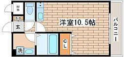フルール須磨[302号室]の間取り