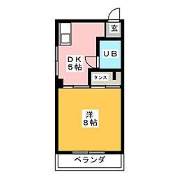 ユングハイム山野田[2階]の間取り