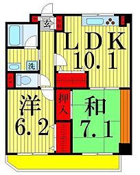 都民住宅 イルニードマンション[102号室]の間取り