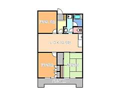 栃木県宇都宮市緑3丁目の賃貸マンションの間取り