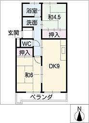 柏原農住S棟[2階]の間取り