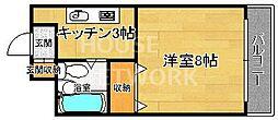 バークレイカワムラ[201号室号室]の間取り