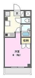 神奈川県相模原市緑区西橋本1丁目の賃貸マンションの間取り