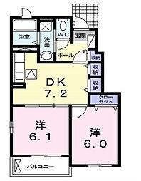 ヘマソラールA[1階]の間取り