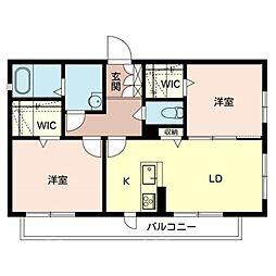 仮)堺市堺区シャーメゾン中向陽町[2階]の間取り