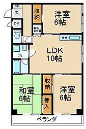 龍宝マンション[3階]の間取り