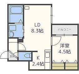 仮)北14東1マンション[4階]の間取り