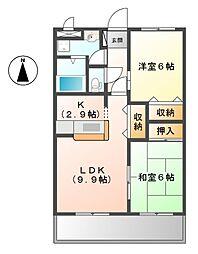 兵庫県姫路市大津区天満の賃貸マンションの間取り