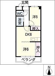 サン・モール井田[4階]の間取り