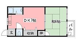 兵庫県西宮市南甲子園3丁目の賃貸マンションの間取り