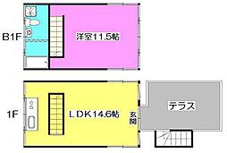 [テラスハウス] 東京都練馬区下石神井6丁目 の賃貸【/】の間取り