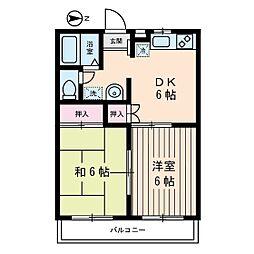 ハイムエムティー1[2階]の間取り