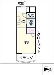 メゾン シルク[2階]の間取り
