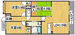 エトワールブリヤンII[2階]の間取り
